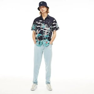LacosteMen's Regular Fit Cotton Poplin Shirt