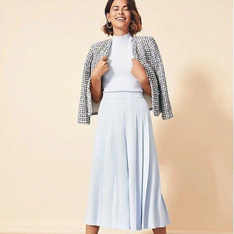 低至额外4折+免邮 $3起Ann Taylor 秋季美衣热卖 优雅半身裙$7,封面小香风外套$35