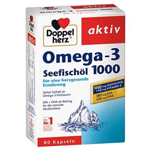 3盒×80粒仅€20.95,合€6.98/盒德国Doppelherz双心深海鱼油胶囊 增强体质和免疫力