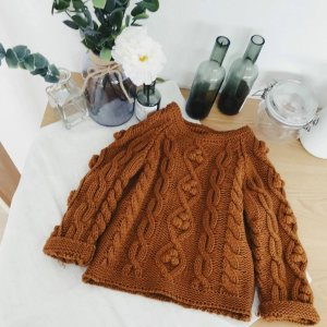 Babble Bear BoutiqueBrown Knit Love Sweater