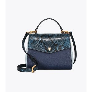 3a7421c17e3 Tory Burch Robinson Floral Convertible Shoulder Bag. Tory BurchRobinson  Mixed-materials Top-handle Satchel