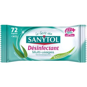 首单订阅8.5折,平均€0.02/张Sanytol 消毒湿巾*72张