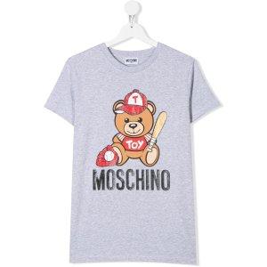 Moschino Kids棒球小熊T恤