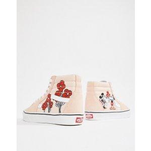 4d0790933979 Vans X Disney SK8-Hi mickey and mini sneakers at asos.com