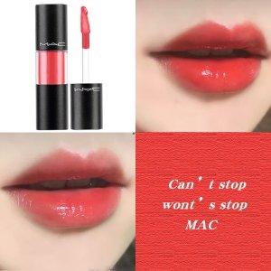 MAC活力大橙子!橙红色 适合夏日棒棒糖唇釉 Cant Stop Wont Stop
