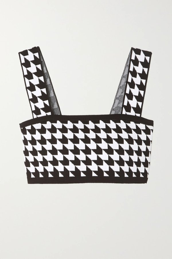 Cropped houndstooth 背心