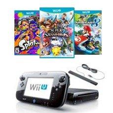 $139.99(原价$169.96)Wii U 喷射战士&超马&马车8 同捆套装 优质翻新款