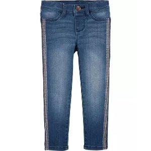 Oshkosh彩虹条纹牛仔裤