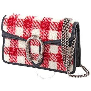 Gucci$50 off $1000Ladies Dionysus Check Tweed Super Mini Bag