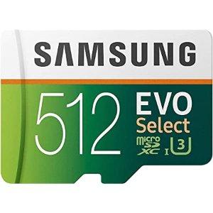 256GB $26, 512GB $62 包邮Samsung EVO U3 100MB/s microSD 闪存卡 三种容量可选