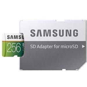 256GB 仅 $28.99Samsung EVO Select U3 MicroSDXC 存储卡 多容量可选