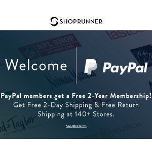 FreePayPal Members get 1-Year ShopRunner Membership