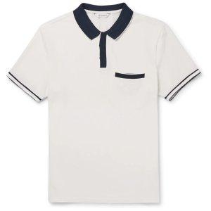 Club MonacoContrast-Tipped Cotton-Blend Pique Polo Shirt