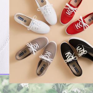 经典小白鞋€32 清新邻家女孩Keds 帆布鞋网红鼻祖 收简约、百搭小白鞋 春夏超合适