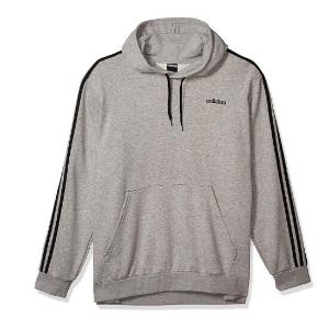$24.46(官网$75)adidas 男款三条杠连帽衣 过度季刚需 舒适气质灰