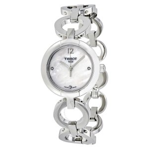 Extra $60 Off Tissot White Mother of Pearl Dial Ladies Watch T0842101111601