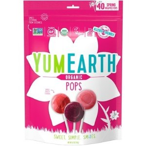 YUMEARTH3种果味 有机 防过敏有机棒棒糖 40支