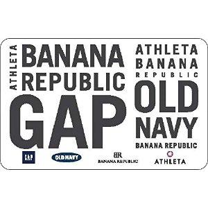 $42.5抢面值$50 店内大促Gap、Banana Republic、Old Navy 电子礼卡限时 8.5折