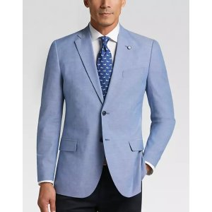 NauticaBlue Chambray Modern Fit Sport Coat