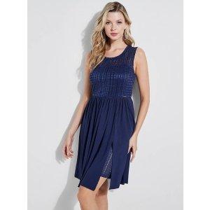Alma Lace-Trim Dress at Guess