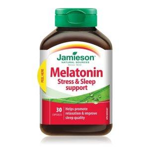 减轻压力 提高睡眠质量Jameison 褪黑素30粒
