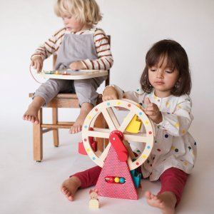 木质彩色摩天轮玩具