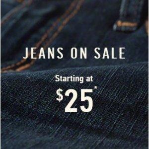 低至$25Hollister 官网男士、女士牛仔裤热卖