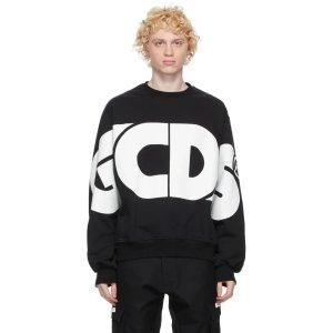 GCDSBlack Macro Logo Sweatshirt
