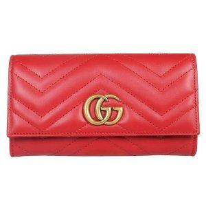 $554.12 相当于美国定价7折Gucci GG Marmont 红色钱包热卖