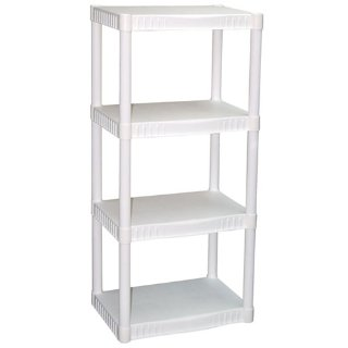 $14.97Plano 4-Tier Heavy-Duty Plastic Shelves, White