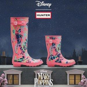 6折热卖 $57收封面迪士尼限量款折扣升级:Hunter 五彩雨靴带你走出阴雨天 穿上秒变五彩好心情