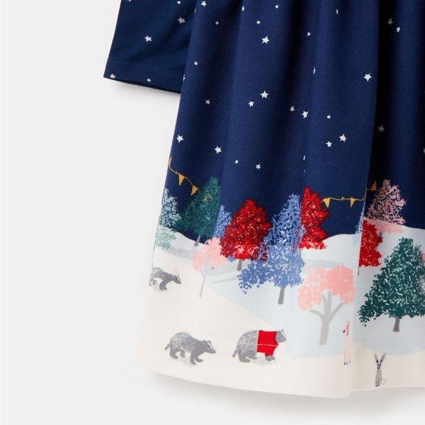 儿童印花连衣裙