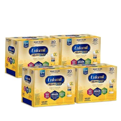 Enfamil NeuroPro Ready to Feed Baby Formula Milk, 2 fluid ounce Nursette (24 count)