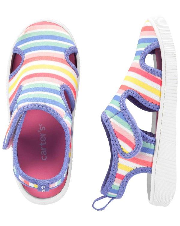 儿童彩虹水鞋