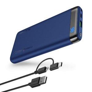 $17 包邮 美亚4星半好评新品上市: Omars移动电源,10000mAh 便携式充电器七五折