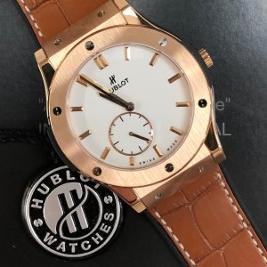 Extra $3000 OffHUBLOT Ultra Thin18k Rose Gold Men's Watch