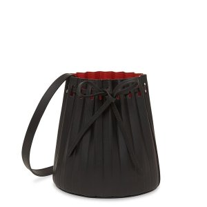 Mansur GavrielVegetable Tanned Mini Pleated Bucket Bag