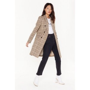 Nasty GalChecking Out Double Breasted Coat | Shop Clothes at Nasty Gal!