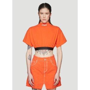 Heron PrestonСТИЛЬ Crop T-Shirt in Orange