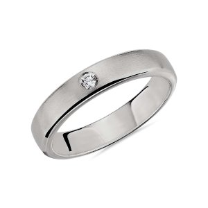 Blue Nile铂金单钻戒指