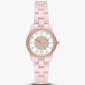 Michael KorsPetite Runway Pave Ceramic Watch