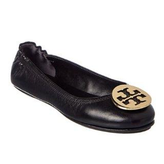 低至6折 黑金配色+码全Tory Burch 美鞋热卖,经典金扣芭蕾鞋$100+