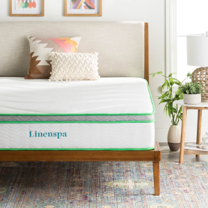 $149.99限今天:LinenSpa 10吋 4层乳胶记忆棉混合床垫 中级硬度 6种尺寸
