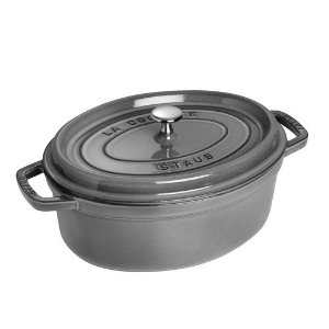 $119.99STAUB CAST IRON 4.25-QT OVAL COCOTTE, GRAPHITE GREY @ Zwilling