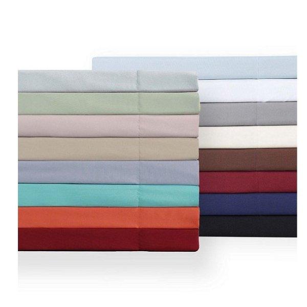 纯色Twin尺寸床单套装