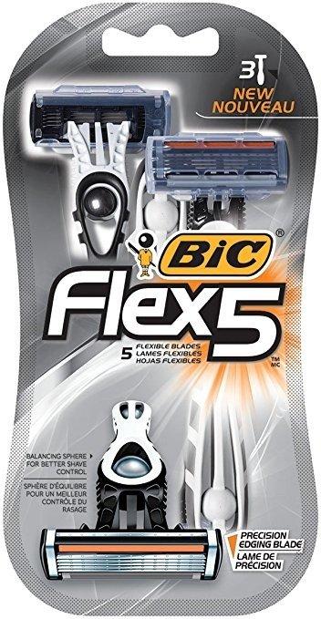 Flex 5男士一次性剃须刀 3个