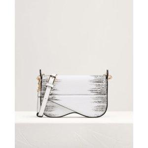 Pedro ShoesSnake-Effect Top Handle Mini Bag