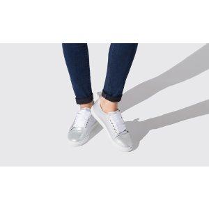 Women's Silver Metallic Sneakers - Fiamma | Scarosso