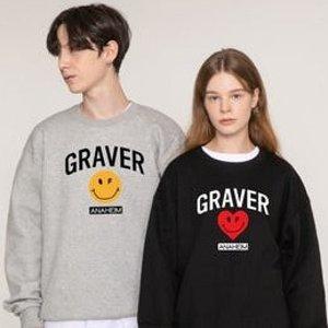 低至4折+额外9折W Concept 笑脸潮牌Graver 超多新品 封面款情侣卫衣€51