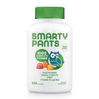 SmartyPants Gummy Vitamins 非转基因每日复合维生素儿童款,添加纤维素,Omega 3,维生素D3和B12,120粒